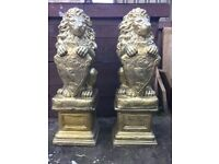 Concrete lions