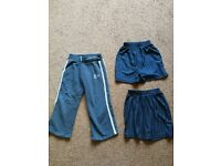 Huge bundle boys school clothing Age 3 - 4 - 5 - 6 years old. Grey trousers & shorts. white polo. PE