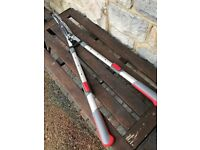 New extending / telescopic lawn shears , edging shears and hedge shears
