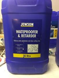 Waterproofer & retarder 25litres £30