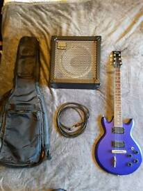Ibanez electric guitar 30 watt amp, tuner and case 240 ono
