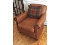 Laura Ashley Burlington Distressed leather large sofa and matching armchair