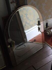 Unusual bathroom mirror with lights