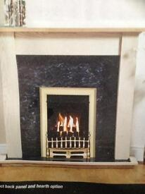 King wood gas fire suite ,brand new in boxes ,RRP is £350 on offer in B&Q today for £324