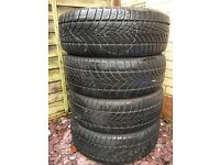 DUNLOP Mud and Snow tyres 4x 225 55 R18 suitable for SUVs