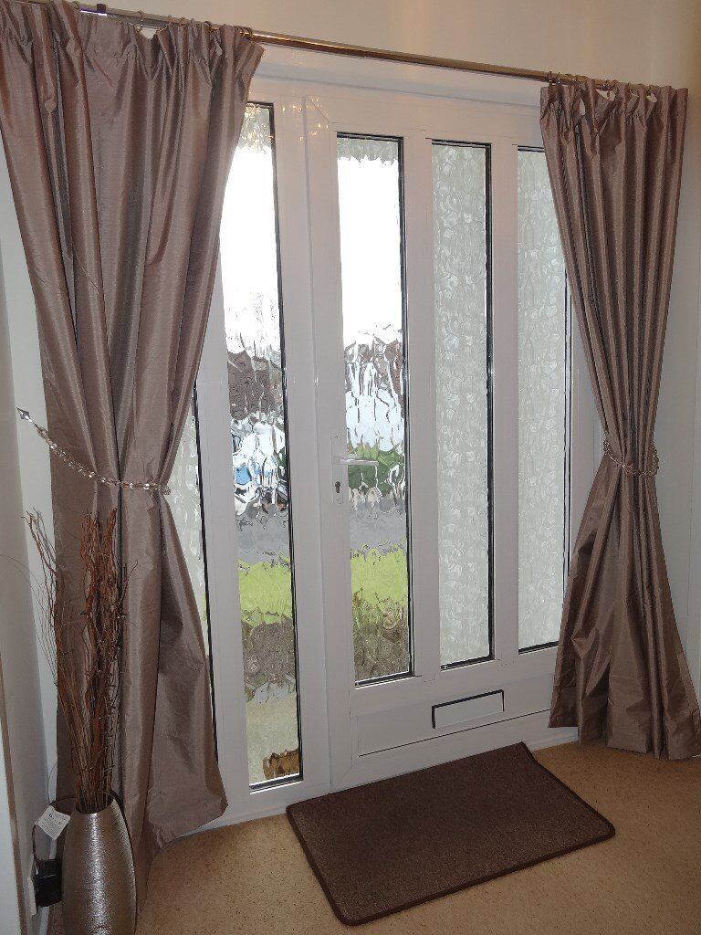 Beautiful Thermal Lined Silk Effect Curtains In A Lovely