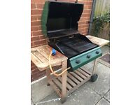 @OUTBACK 3 BURNER GAS BBQ, WITH PIPE AND REGULATOR, GREAT CONDITION@