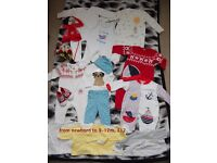 Baby boy clothes mixed sizes bundle