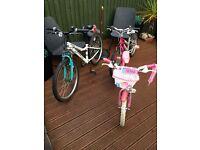 Job lot x 3 girls bikes