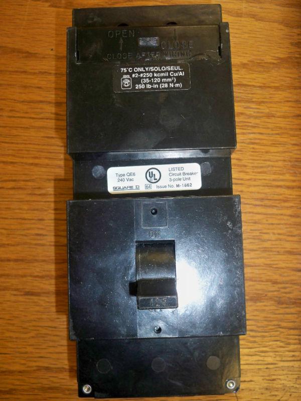 Square D Qe3125vh 125a 3p 240v Circuit Breaker Used