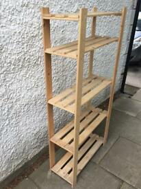 Wooden shelving rack. 4 available