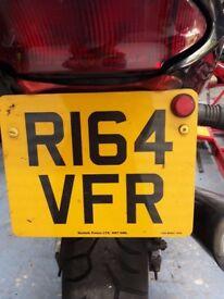 HONDA VFR private reg number VRF400 VFR750 VFR800
