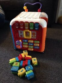 Vtech Childrens Activity cube and Vtech Push and ride train