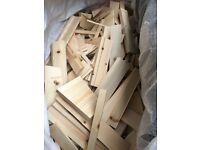 New clean fire wood / kindling trailer loads