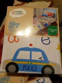 Kids bedding ABC transport set