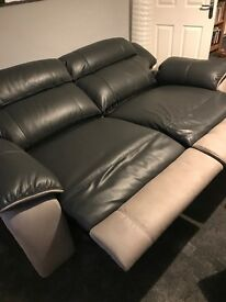 Brand new DFS sofas - 3 seater electric recliner and 2 seater fixed grey leather