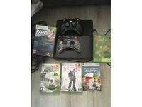 Xbox 360 + 7games & 2 controllers.