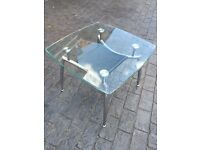 Dfs small glass coffee table