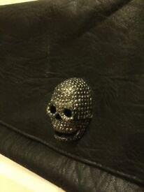 Skull Faux Leather Bag/Clutch *LIKE NEW*