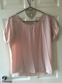 River Island Pink / Blush / Nude Blouse Size 12