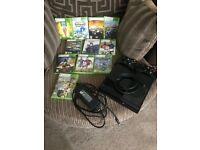 Xbox 360 250mb with games and controllers