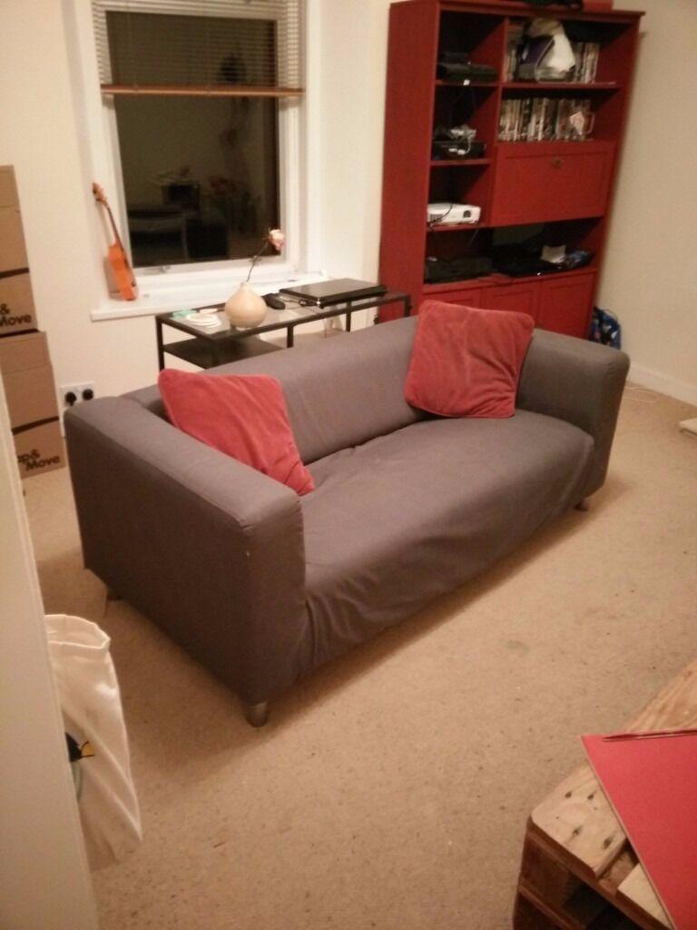 ikea grey klippan sofa in broughty ferry dundee gumtree. Black Bedroom Furniture Sets. Home Design Ideas