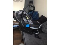 Silver cross 3-D baby car seat with iso-fix unit