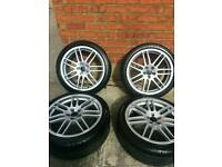 "Audi TT / S3 Alloy Wheels 18"" / RS4 style / 5x100 / Suit Golf MK4 / VW SEAT SKODA"