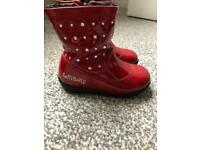 8fe4fdb6 Lelli Kelly Red Winter Infant Boots Size 23 (6)