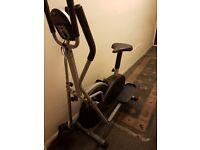 2 in 1 cross trainer exercise bike