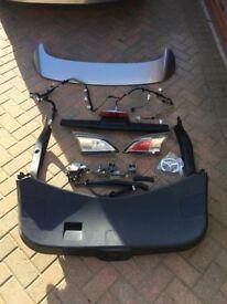 Mazda 3 Sport 2010-13 Rear Roof Spoiler Rear Electric Rear Door Cards Rear Wash Wipe Fittings Etc