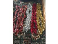 BRAND NEW THICK TINSELS XMAS WEDDING CHRISTMAS PARTY DJ OCCASION RED SILVER GOLD 2M