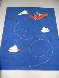IKEA Flygtur Boys Blue Rug, Low Pile - Excellent Condition