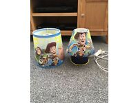 Toy story lamp shade & table lamp