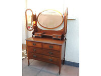 Heavy duty wooden antique dresser chest of drawers (Delivery)