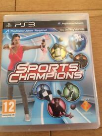 Sports champions PlayStation 3
