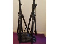 Skytec Speaker Stands(x2) with carrier bag.
