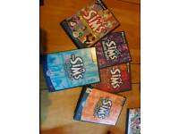 Set of sims 1 and 4 expansion packs