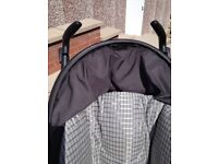 Mammas Pappas pliko travel system pram and baby seat including brand new padded footcover