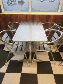 Stainless tables and chairs