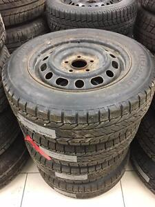 4 Used 195/65R15 BF Goodrich winter tires on steel rims for Mazda 3