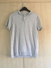 Topman Light Grey Polo T Shirt