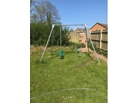 Swing set. Tp make with plastic swing and sky rider