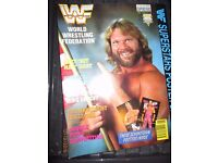 RARE WWE/ WWF WRESTLING SUPER STARS POSTER MAGAZINE JIM DUGGAN 2 COVER HAVE OTHER MAGAZINES FOR SALE