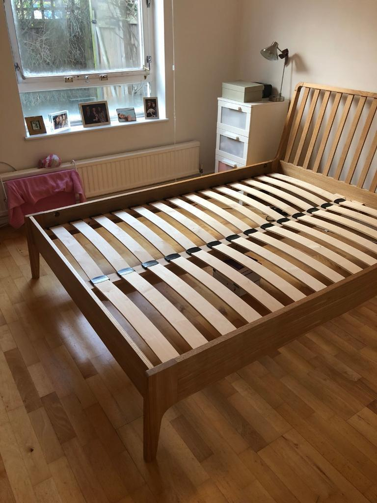 John Lewis Maine Wooden Ash Double Bed Frame