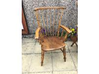 Grandmother spindle back antique wooden chair
