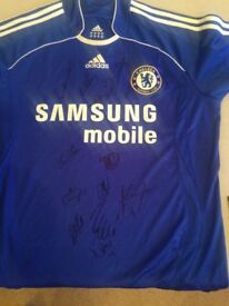 Chelsea signed home shirt by 06-07 squad