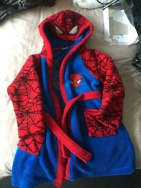 Boys Spider-Man Dressing Gown size 6/7