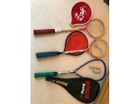 3 squash rackets v good condition