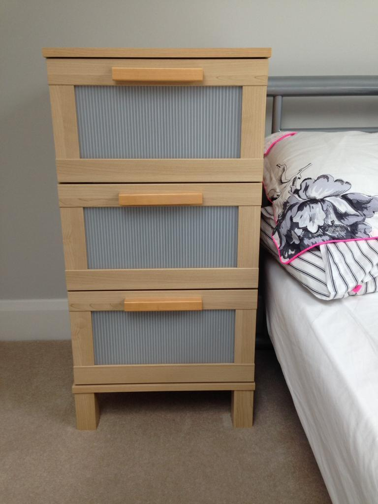 Ikea Aneboda Bedside Table Small Chest Of Drawers
